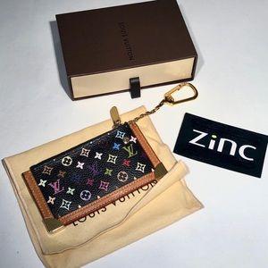 Louis Vuitton Black Multicolore Cles Keychain